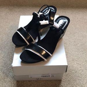 NWT, black sandals